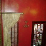 Red wall with gold wash