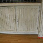 Three colour distressed cupboards