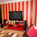 Red and tan vertical stripes